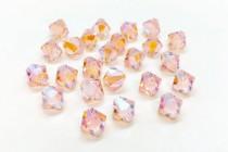 Light Peach AB2x Swarovski Crystal Bicone Beads 5301/5328 - Factory Pack