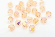 Light Peach AB Swarovski Crystal Bicone Beads 5301/5328 - Factory Pack