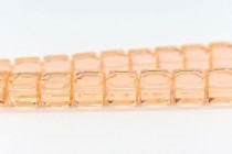 Light Peach 5601 Swarovski Elements Crystal Cube Bead