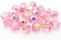 Light Rose AB 2x 5000 Swarovski Elements Crystal Round Bead