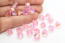 Light Rose AB Swarovski Crystal Bicone Beads 5301/5328 - Factory Pack