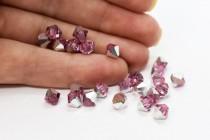 Light Rose Comet Argent Light  5301/5328 Swarovski Elements Crystal Bicone Bead