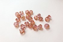 Light Rose Champagne 5301/5328 Swarovski &reg: Crystal with third-party coating,Bicone Bead