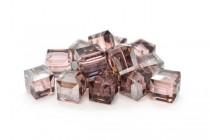 Light Rose Satin 5601 Swarovski Elements Crystal Cube Beads