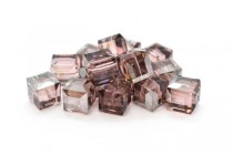 Light Rose Satin 5601 Swarovski Elements Crystal Cube Bead