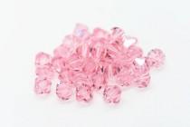 Light Rose Swarovski Crystal Bicone Beads 5301/5328 - Factory Pack
