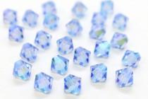 Light Sapphire AB2x 5301/5328 Swarovski Elements Crystal Bicone Beads
