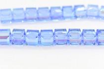 Light Sapphire AB 5601 Swarovski Elements Crystal Cube Bead
