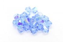Light Sapphire AB 5301/5328 Swarovski Elements Crystal Bicone Bead