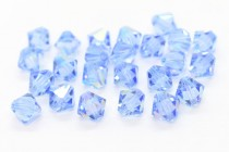 Light Sapphire AB 5301/5328 Swarovski Crystal Bicone Beads - Factory Pack Quantity