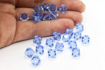 Light Sapphire 5301/5328 Swarovski Elements Crystal Bicone Bead