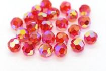 Light Siam AB 2x 5000 Swarovski Elements Crystal Round Bead