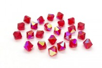 Light Siam AB 5328 Swarovski Elements Crystal Bicone Bead