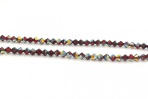 Light Siam Cathedral 5301/5328 Swarovski &reg: Crystal with third-party coating,Bicone Bead