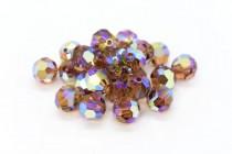 Light Smoked Topaz AB 2x 5000 Swarovski Elements Crystal Round Bead