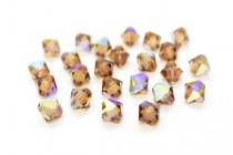 Light Smoked Topaz AB 5301 Swarovski Elements Crystal Bicone Bead