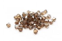 Light Smoked Topaz Satin 5301 Swarovski Crystal Bicone Bead