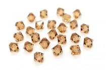 Light Smoked Topaz 5301/5328 Swarovski Elements Crystal Bicone Bead