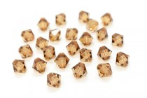 Light Smoked Topaz 5301/5328 Swarovski Crystal Bicone Bead