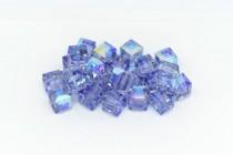 Light Tanzanite AB 5601 Swarovski Elements Crystal Cube Beads - 6mm