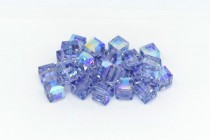 Light Tanzanite AB Swarovski Crystal Cube Beads 5601