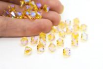 Light Topaz AB2X 5301/5328 Swarovski Crystal Elements Bicone Bead