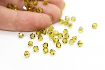 Light Topaz Satin 5301 Swarovski Elements Crystal Bicone Bead