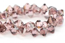 Light Rose Satin Swarovski Crystal Top Drilled Bicone Pendants 6301