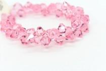 Light Rose Swarovski Crystal Top Drilled Bicone Pendants 6301