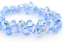 Light Sapphire AB2x Swarovski Crystal Top Drilled Bicone Pendants 6301