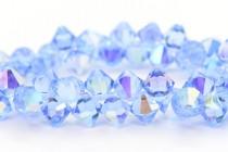 Light Sapphire AB Swarovski Crystal Top Drilled Bicone Pendants 6301