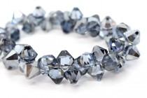 Light Sapphire Satin Swarovski Crystal Top Drilled Bicone Pendants 6301