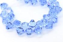 Light Sapphire Swarovski Crystal Top Drilled Bicone Pendants 6301
