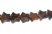 Mahogany Obsidian (Natural) Star Gemstone Beads
