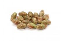 Mayflower Jasper (Natural) Six Sided Double Cone Gemstone Beads