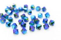 Medium Emerald AB2x 5301/5328 Swarovski Crystal Bicone Bead