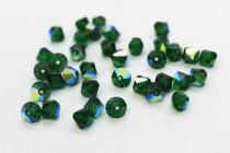 Medium Emerald AB  5301/5328 Swarovski Elements Crystal Bicone Bead