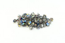 Crystal Meridian Blue (Special Variation) Swarovski Crystal Bicone Beads 5301
