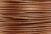 Greek Round Leather Cord - Metallic Copper