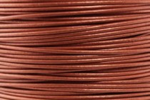 Greek Round Leather Cord - Metallic Red