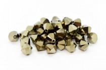 Crystal Metallic Light Gold 2x Swarovski Crystal Bicone Beads 5301/5328