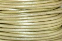 Greek Round Leather Cord - Metallic Light Green