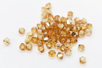 Crystal Metallic Sunshine 5328 Swarovski Crystal Bicone Bead