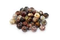 Mexican Crazy Lace Agate ( Natural ) A grade Six Side Drum Gemstone Beads