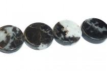 Zebra Jasper (Mexican Zebra Stone) (Natural) Coin Gemstone Beads