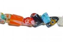Millefiori Multi Flower, Glass Chip Beads