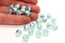 Mint Alabaster AB2x  5301/5328 Swarovski Crystal Bicone Bead
