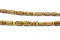 Mojave Rose Jasper (Natural) Graduated Tube and Rondelle Mix Gemstone Beads