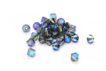 Montana AB 5301/5328 Swarovski Elements Crystal Bicone Beads