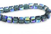 Montana AB  5601 Swarovski Elements Crystal Cube Bead